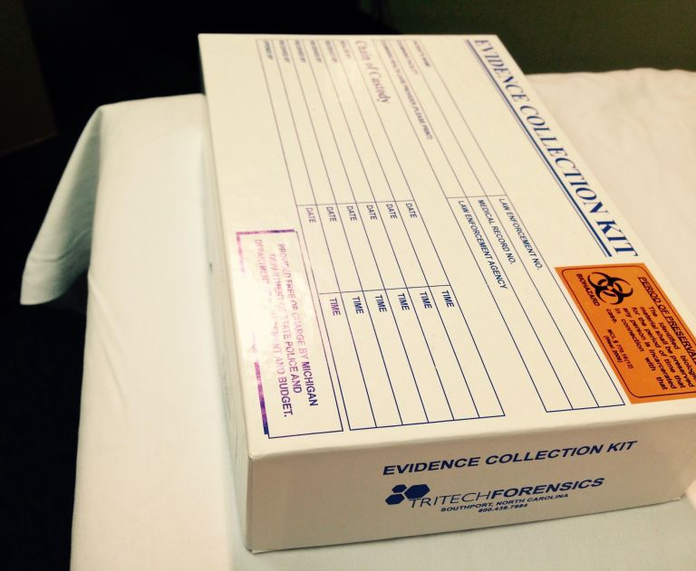 image of evidence collection kit